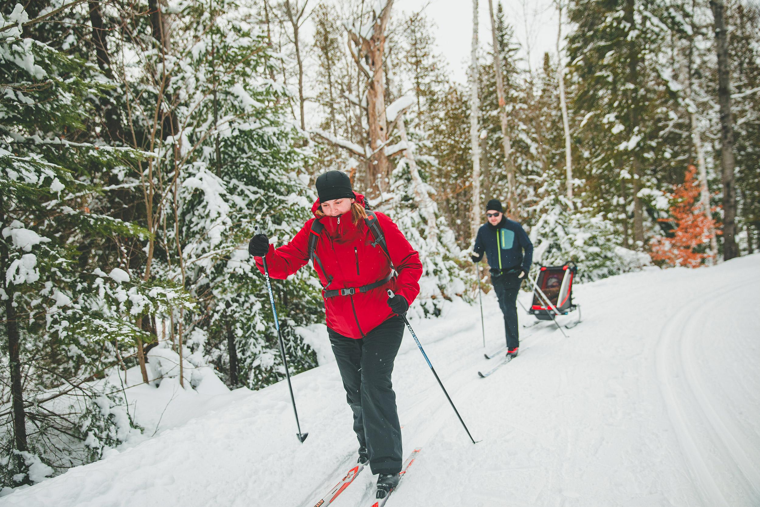 Ski de fond à Saint-Donat