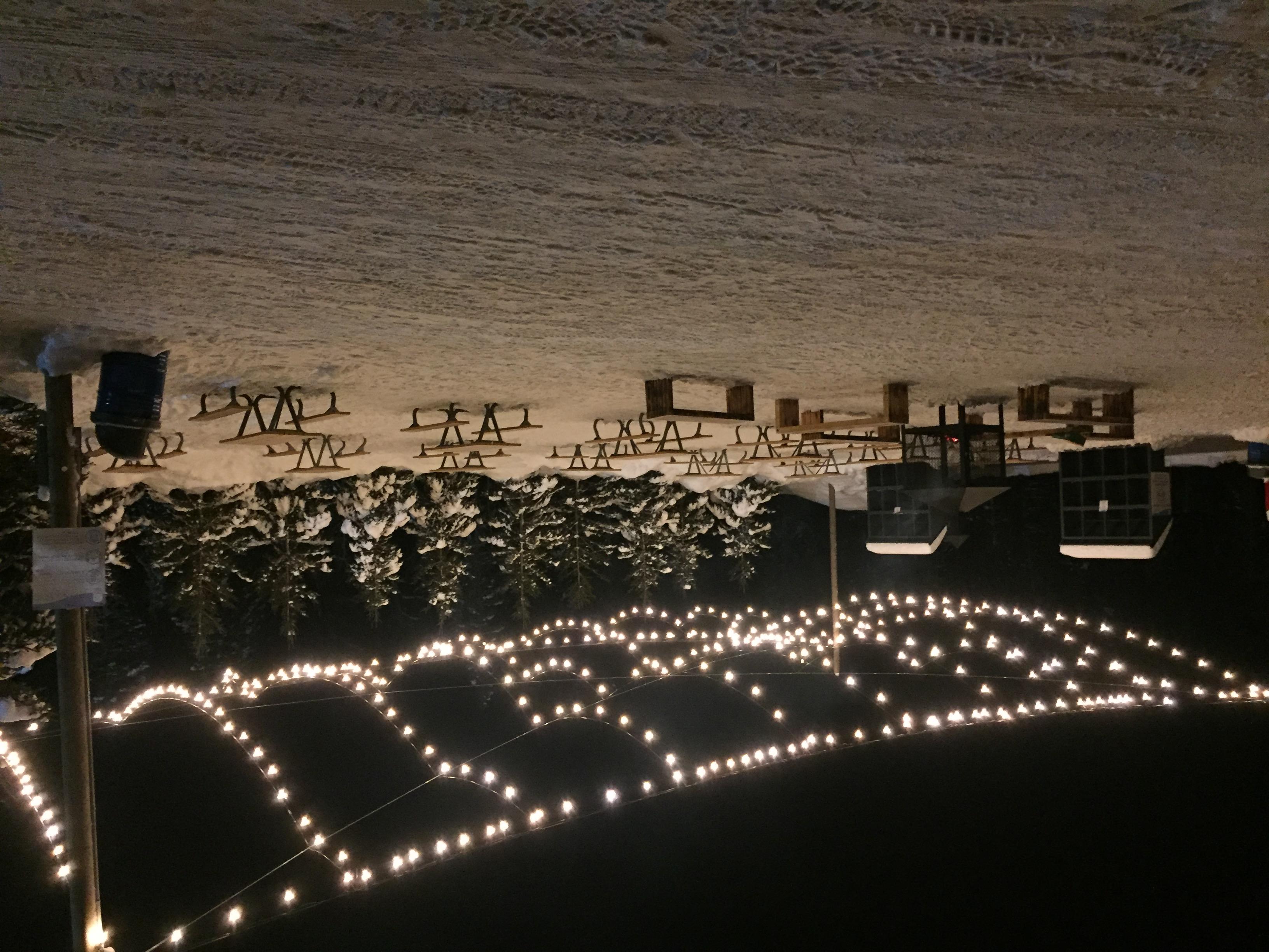 Parc des Pionniers l'hiver le soir