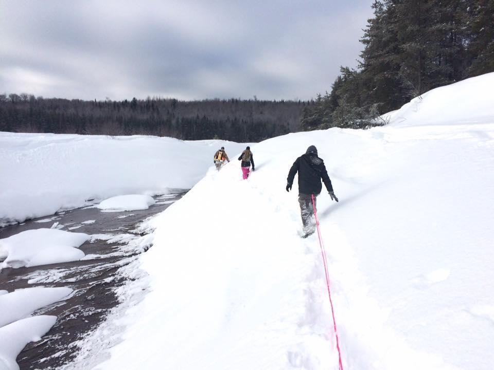 Decouverte des glacieres - une randonnée inusitée à faire en hiver à l'Auberge du lac Taureau