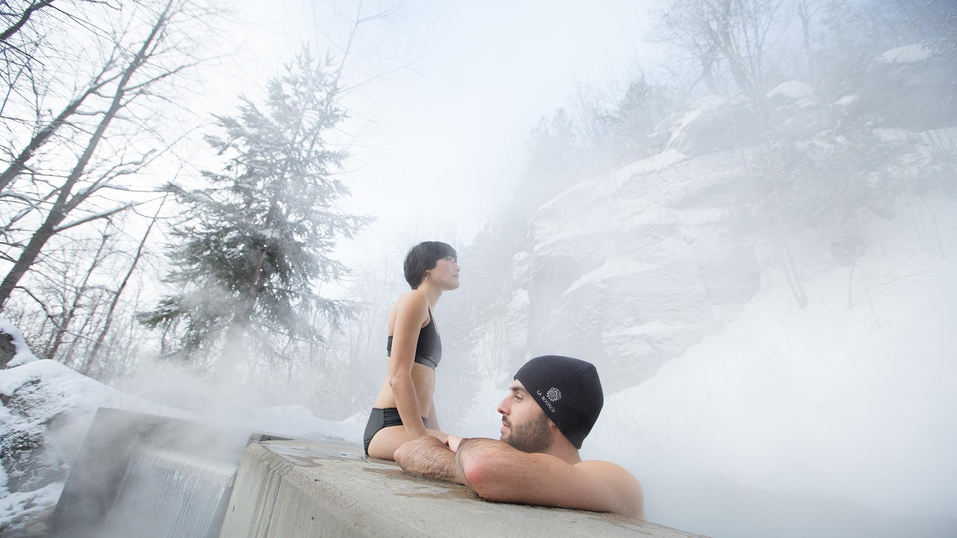 Couple à la Source Bains Nordiques