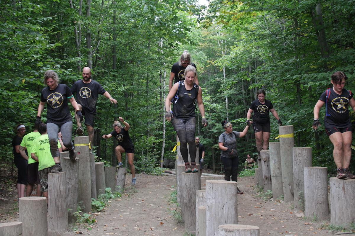 Course Extrême de Saint-Calixte. Course à obstacles
